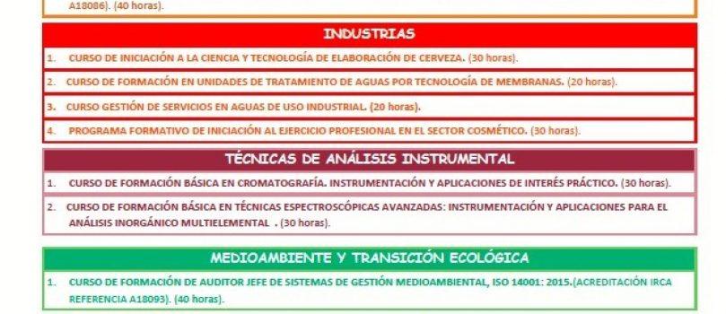 CATÁLOGO DE FORMACIÓN PRESENCIAL /STREAMING