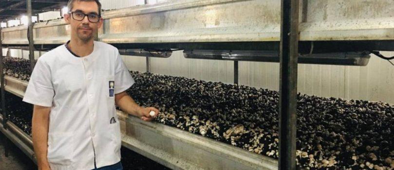 Jaime Carrasco, este químico agrícola trabaja en un proyecto internacional para sustituir el uso de la turba en el cultivo del champiñón