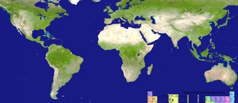 Geografía en la tabla periódica